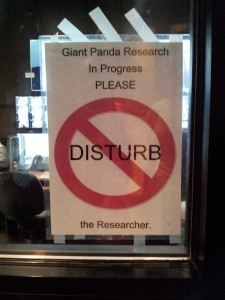 If I were the researcher I would edit that sign…