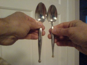 Sorting spoons by size, a daily task. Image credit: Roberto Casati