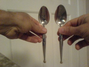Sorting spoons by size, a daily task