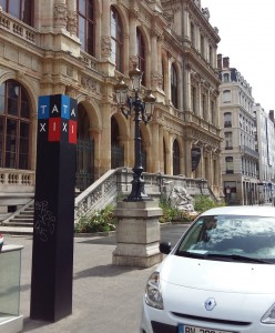 Taxi stand in Lyon