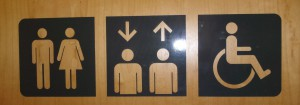 The restroom elevator ambiguity