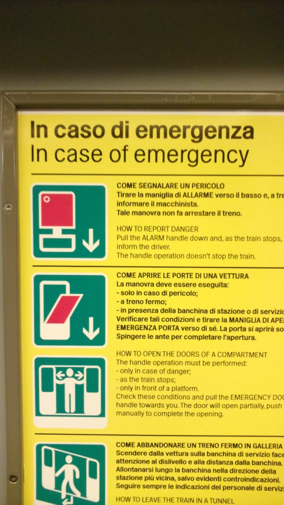 In case of an emergency, look for the red window